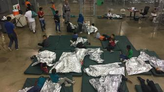 A view of inside U.S. Customs and Border Protection (CBP) detention facility shows children at Rio Grande Valley Centralized Processing Center in Rio Grande City, Texas, U.S., June 17, 2018. Picture taken on June 17, 2018.   Courtesy CBP/Handout via REUTERS   ATTENTION EDITORS - THIS IMAGE HAS BEEN SUPPLIED BY A THIRD PARTY.