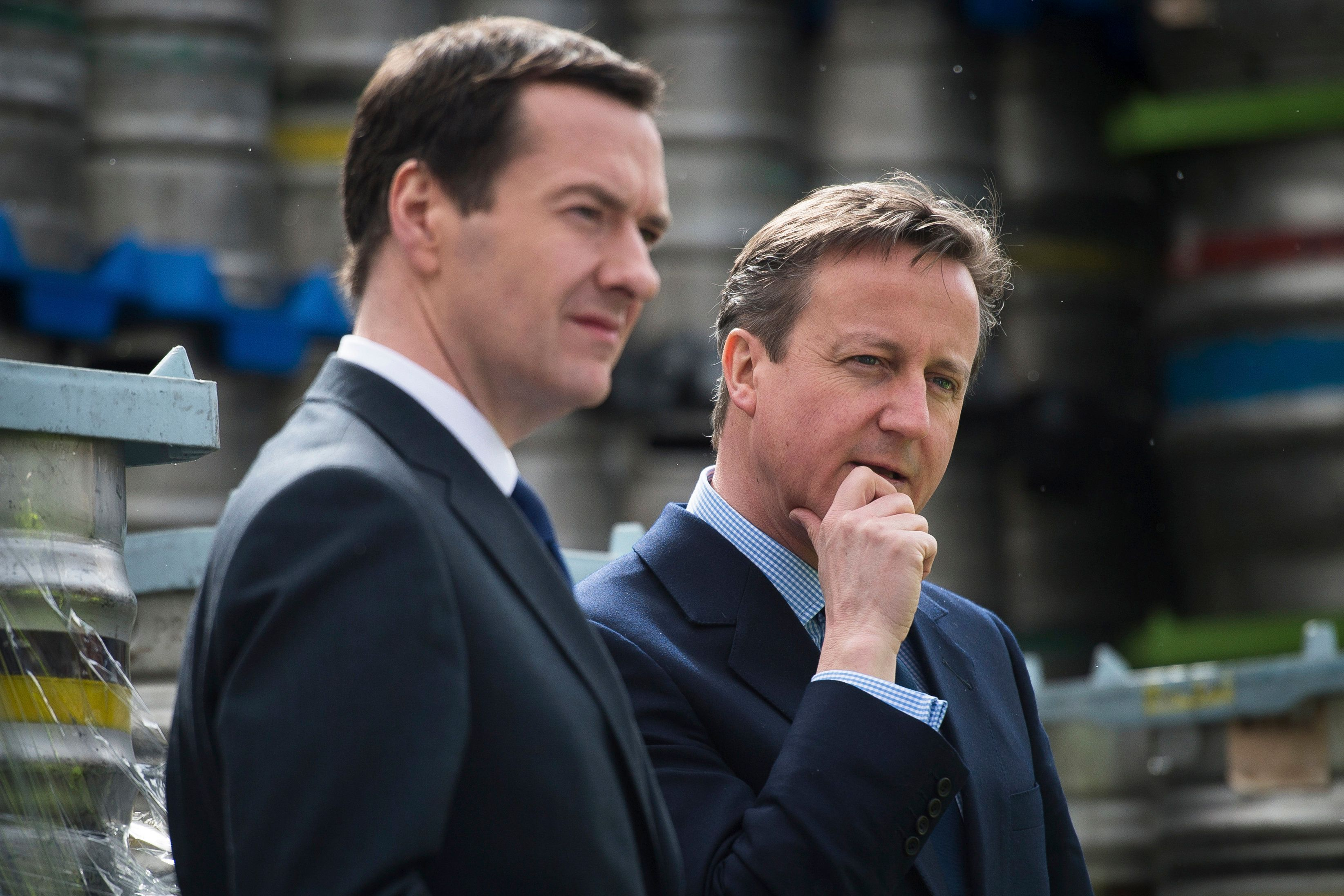Former Prime Minister David Cameron withthen-Chancellor George