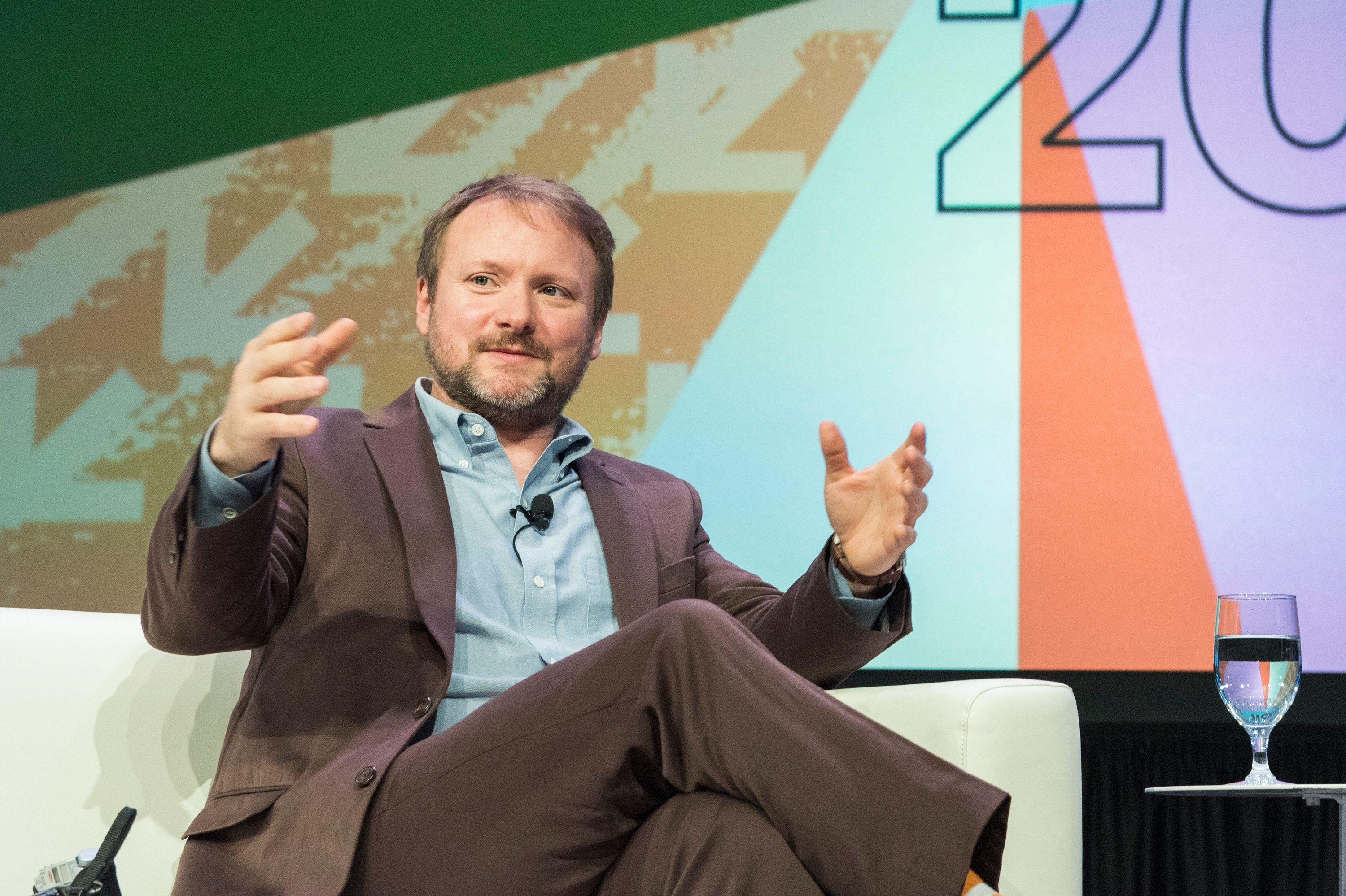AUSTIN, TX - MARCH 12:  Director Rian Johnson speaks during his SXSW Interactive session 'Journey To Star Wars' on March 12, 2018 in Austin, Texas.  (Photo by Jim Bennett/WireImage)