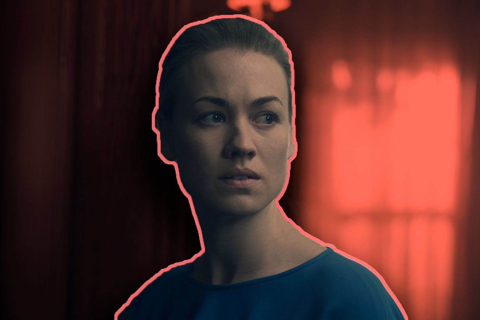 "Yvonne Strahovski plays Serena Joy Waterford on Hulu's ""The Handmaid's Tale."""