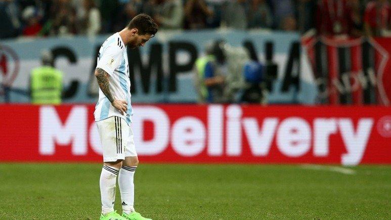 메시가 유효슈팅 '0'에 그치며 아르헨티나가 60년만에 아픈 기록을