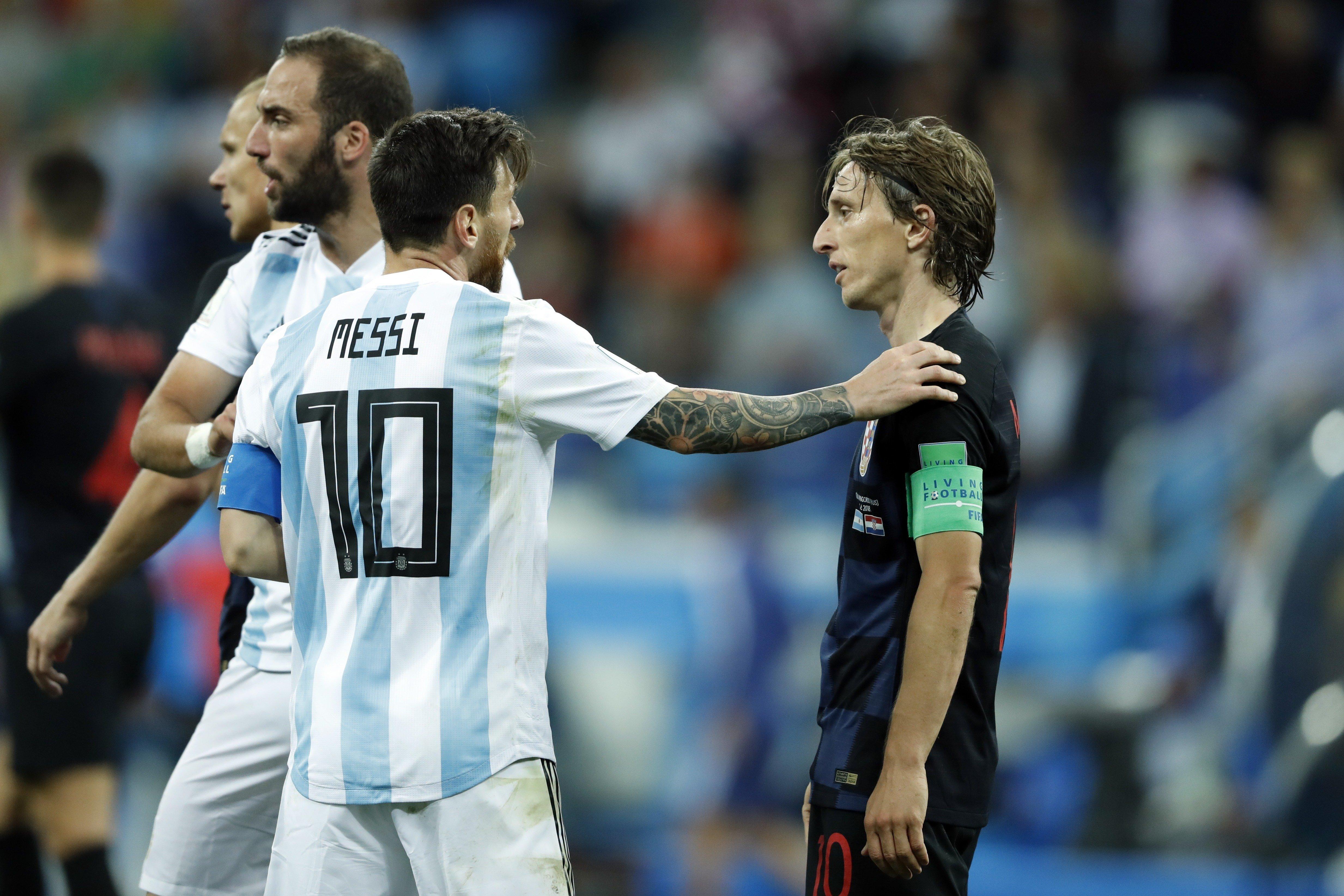 아르헨티나-크로아티아 'MOM' 모드리치가 메시를 칭찬하며 한