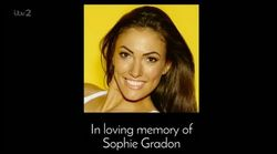 'Love Island' Honours Late Contestant Sophie Gradon With On-Air Dedication