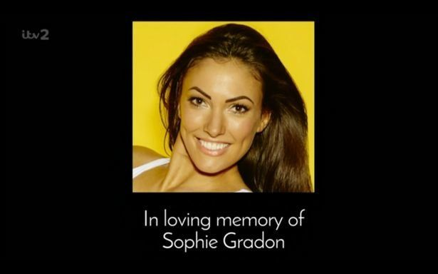 'Love Island' aired a dedication to Sophie on