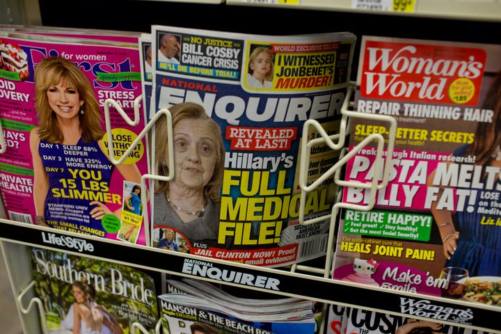 President Donald Trump was interested in Enquirer stories that could be damaging to Democratic presidential nominee&nbsp