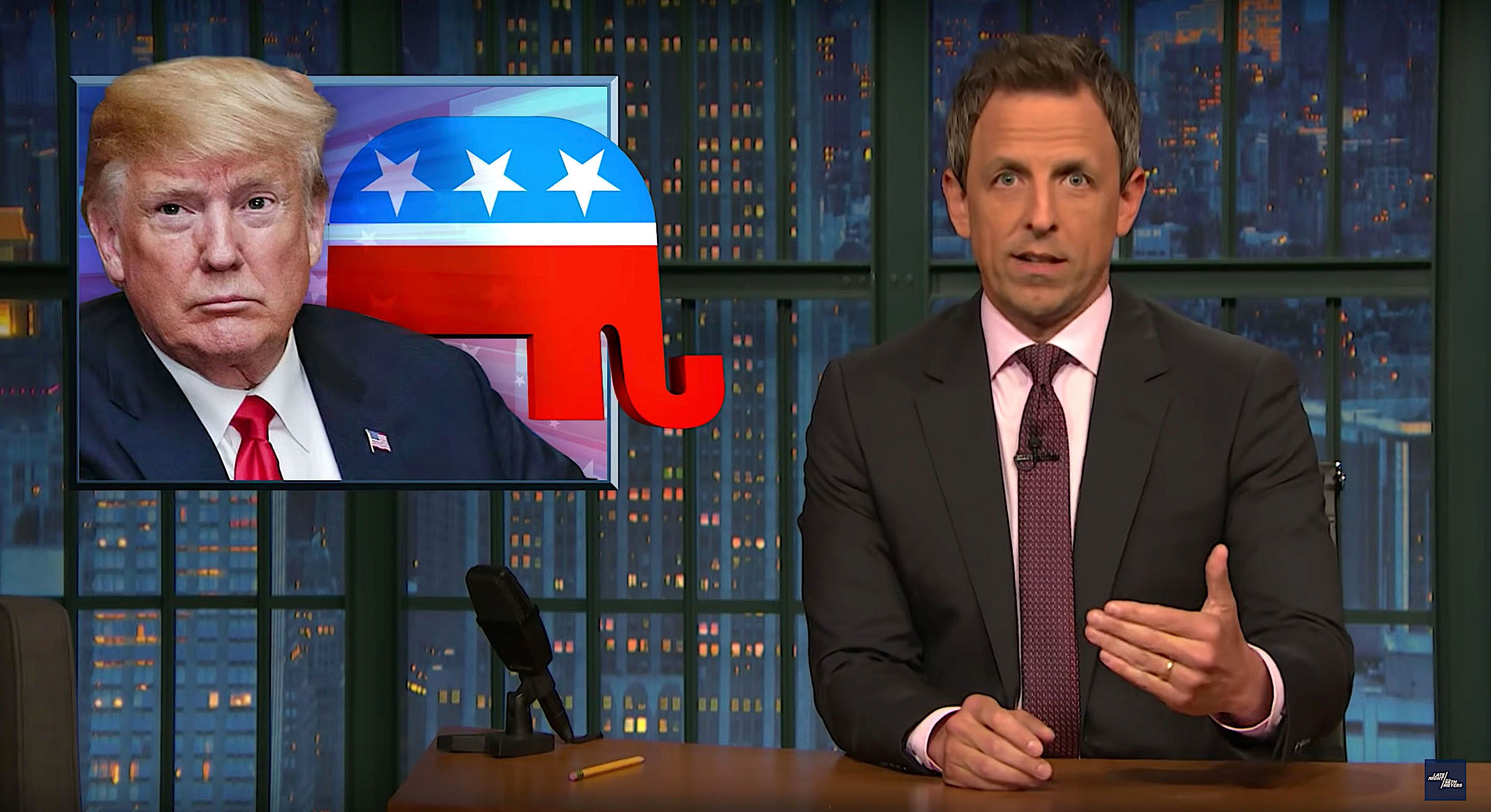 Seth Meyers of Late Night talks about the aftermath of President Donald Trumps family separation policy
