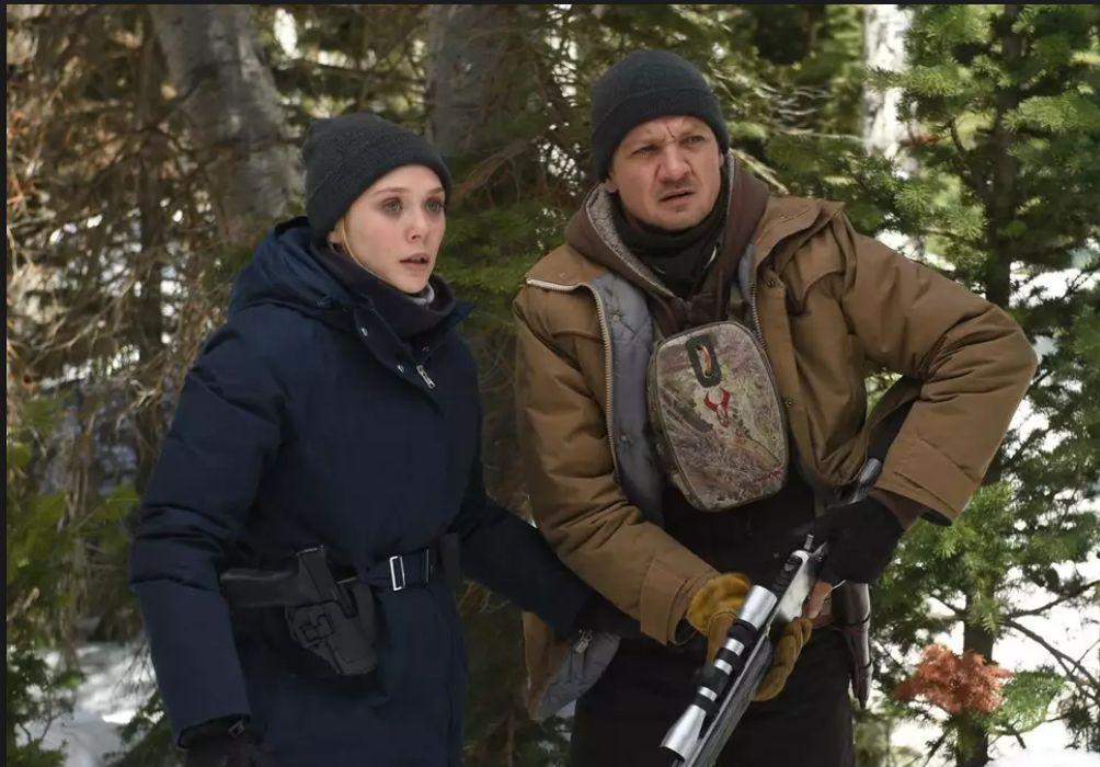 Elizabeth Olsen and Jeremy Renner star in Wind River,