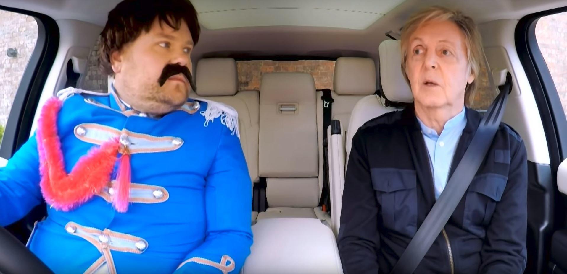James Corden really got in the spirit for Paul McCartney's 'Carpool