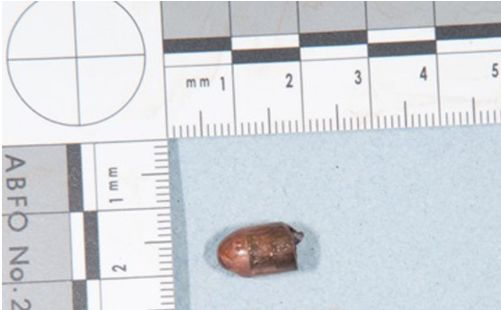 A bullet recovered from the scene of the fatal