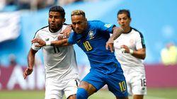 브라질이 코스타리카를 2-0으로 꺾고