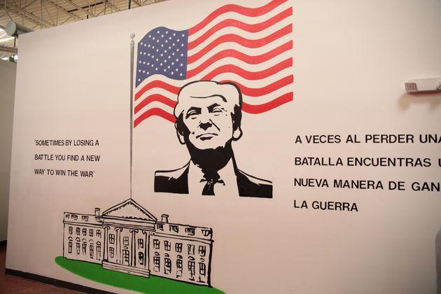 A Trump mural at Casa