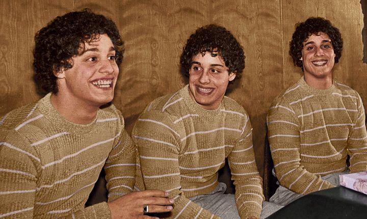 Eddy Galland, David Kellman and Robert Shafran, the three identical strangers.
