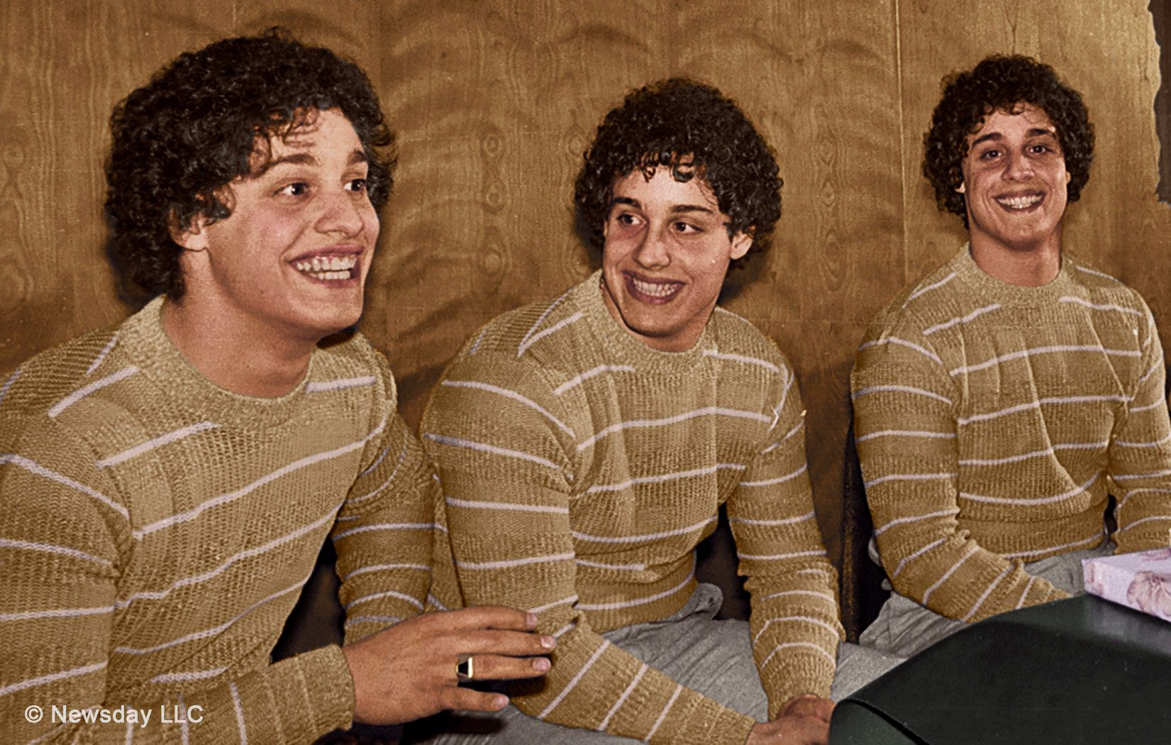 Eddy Galland,David Kellman andRobert Shafran, the three identical strangers.