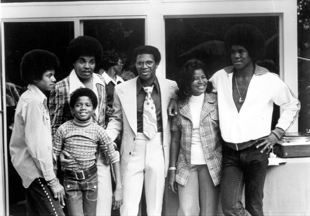 From left: Michael Jackson, Randy Jackson, Joe Jackson, Junior Walker, Katherine Jackson and Jermaine...