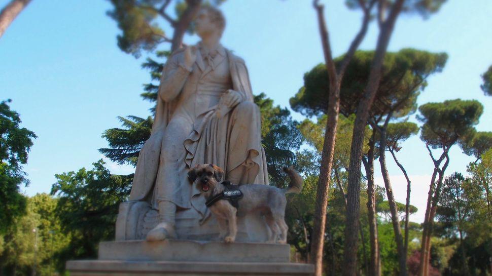 παρέα με τον Λόρδο Βύρωνα, στο πάρκο Μποργκέζε