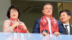 문대통령의 '월드컵 남북공동개최' 언급에 FIFA 회장이 한