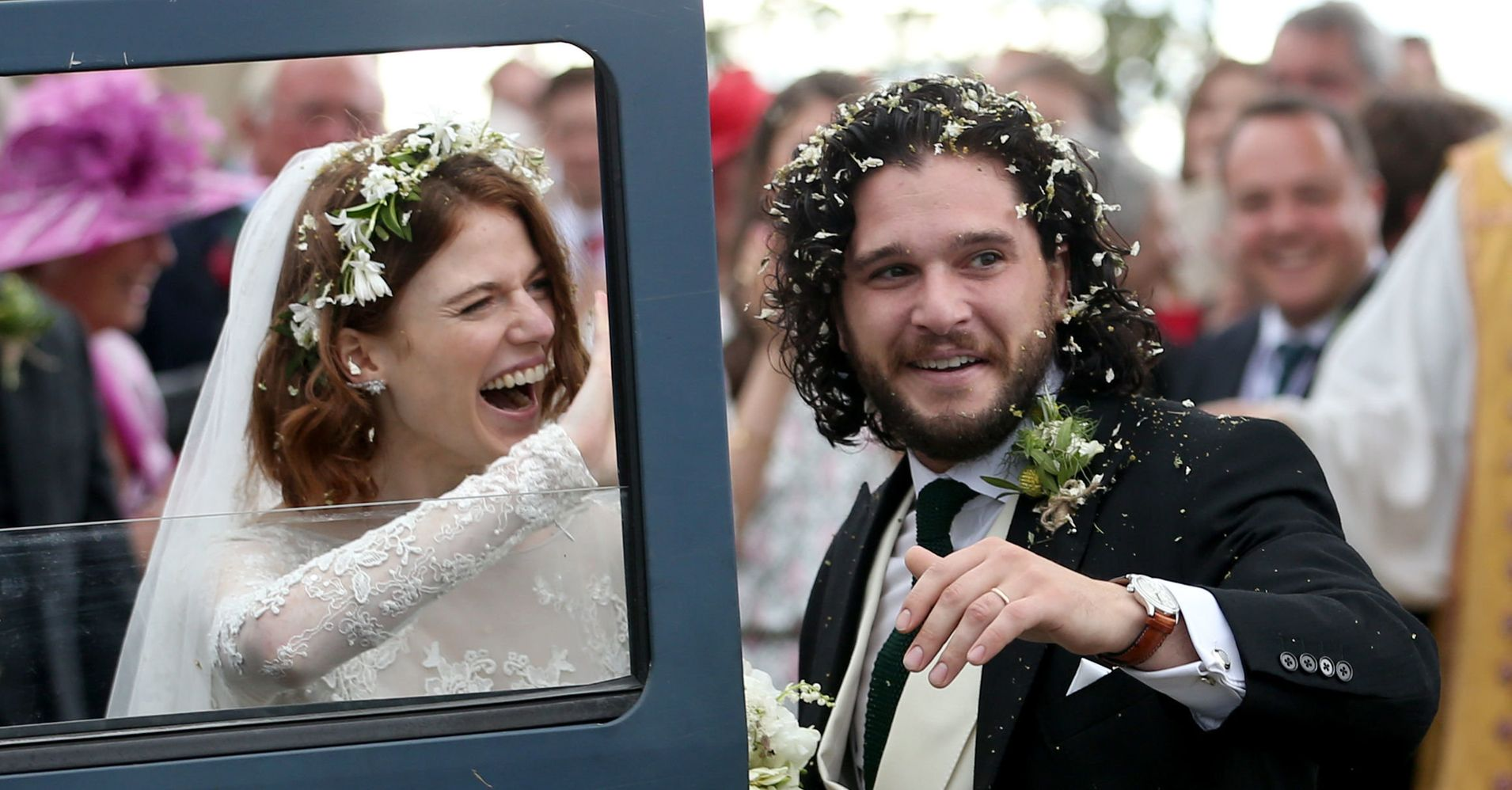 'Game Of Thrones' Stars Kit Harington And Rose Leslie Just Got Married IRL
