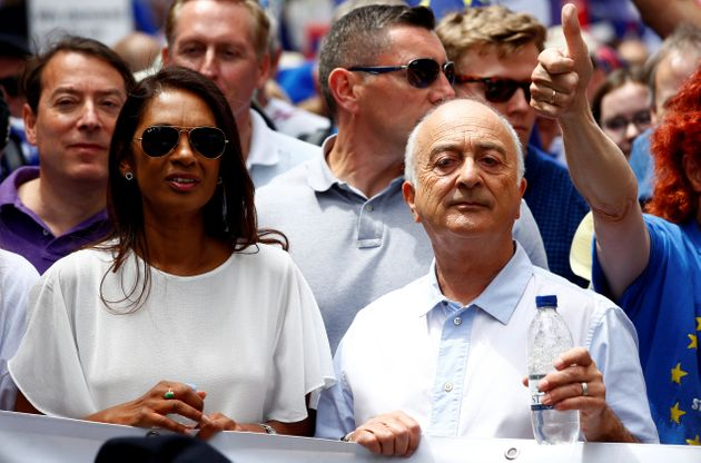 Anti-Brexit campaigner Gina Miller and actor Tony Robinson joined the
