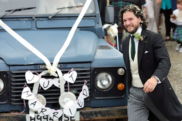 Kit Harington, who clearly knows something about getting married.