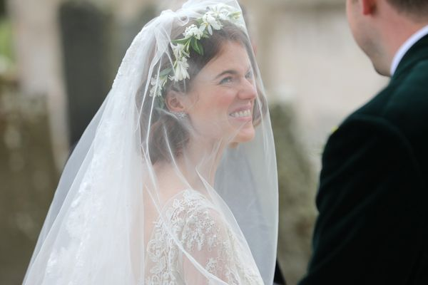 Rose Leslie arriving at the church.