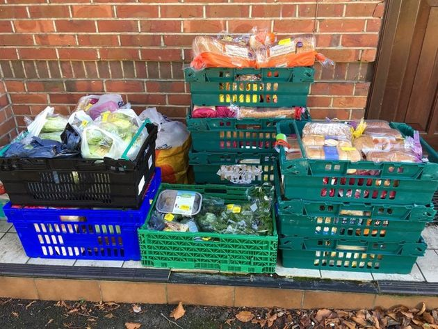 Hope For Food collects donations for local families and the