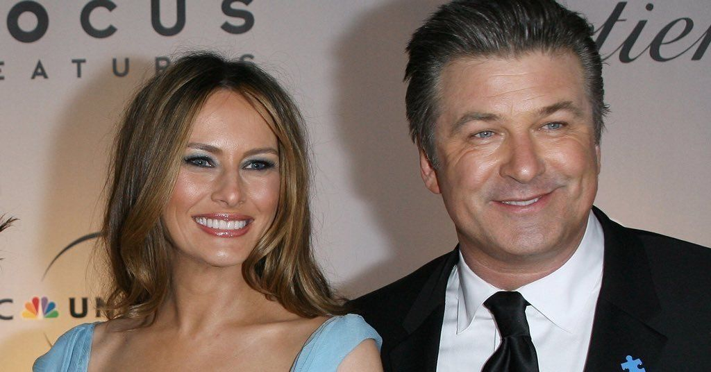 Melania Trump and Alec Baldwin