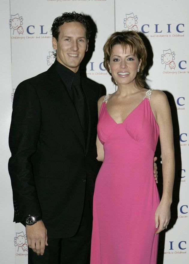 Natasha with her 'Strictly' partner Brendan Cole in