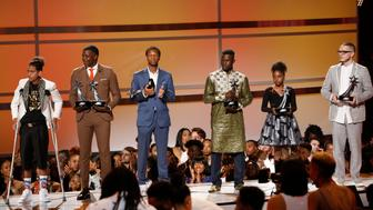 "2018 BET Awards - Show  - Los Angeles, California, U.S., 24/06/2018 - John Legend (not pictured) introduces six people for ""Hero's Row,"" (from R) James Shaw Jr., Naomi Wadler, Mamoudou Gassama, Justin Blackman, Shaun King and Anthony Borges. REUTERS/Mario Anzuoni"