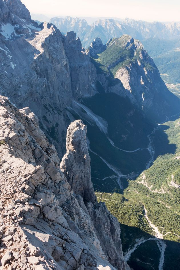 The 9,500ft Busazza mountain in the Dolomites, north of