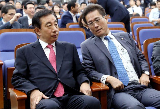 6월21일 의원총회에 참석한 김성태