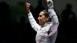 L'escrimeuse Ines Boubakri offre à la Tunisie sa première médaille d'or aux jeux méditerranéens de