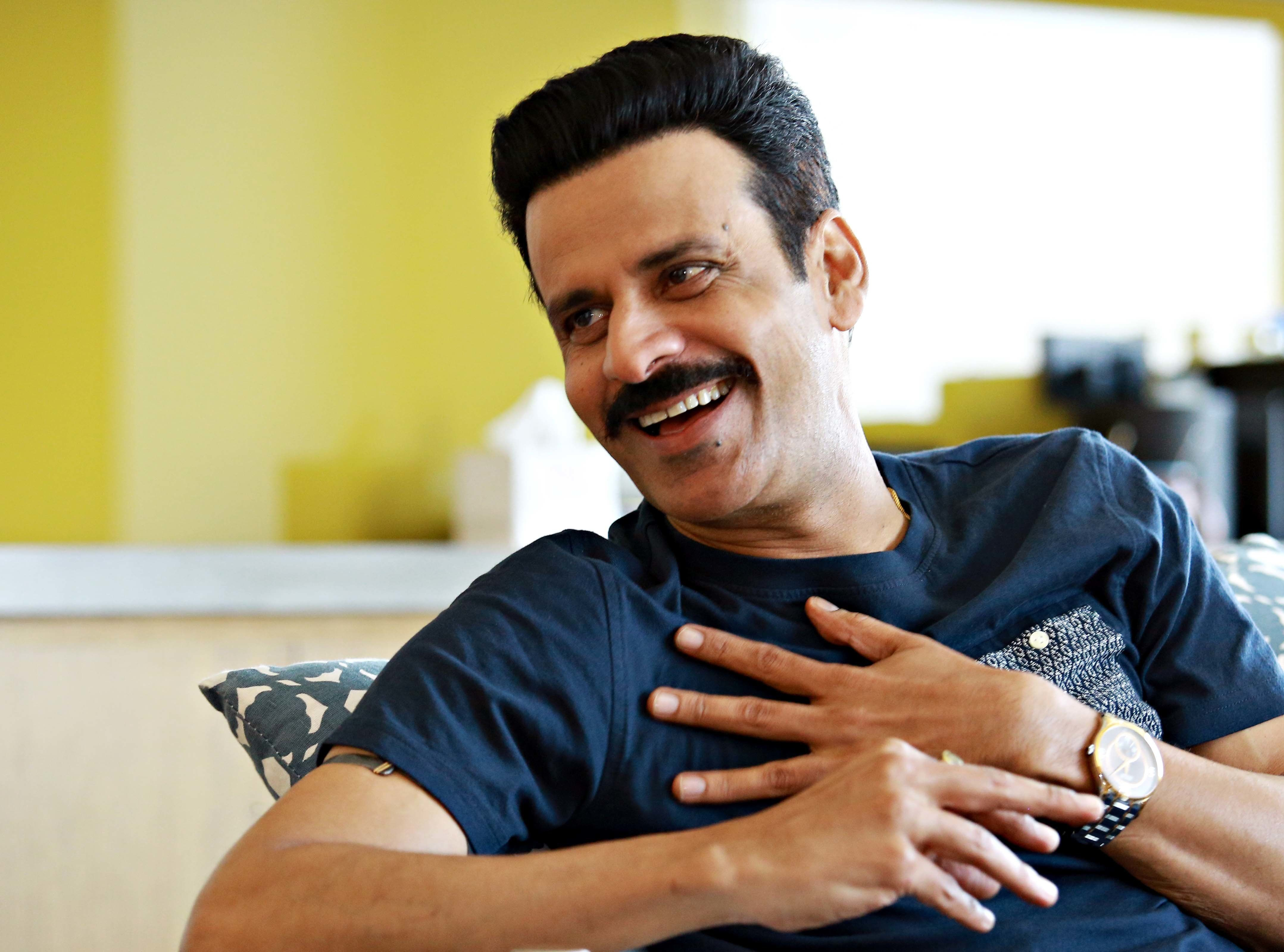 NEW DELHI, INDIA - SEPTEMBER 18: (EDITOR'S NOTE: This is an exclusive image of Hindustan Times) Bollywood actor Manoj Bajpayee during an exclusive interview with HTCity-Hindustan Times, on September 18, 2017 in New Delhi, India. His upcoming film, In The Shadows (Gali Guliyaan in Hindi), already making waves both in India and abroad, premieres at the Busan Film Festival, and has also been nominated for the prestigious Golden Hugo Award at the Chicago International Film Festival, an award India won only once, for Mrinal Sens Khandhar (1984). (Photo by Amal Ks/Hindustan Times via Getty Images)