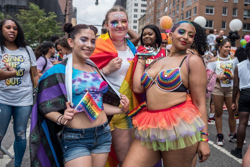 People celebrate NYC Pride.