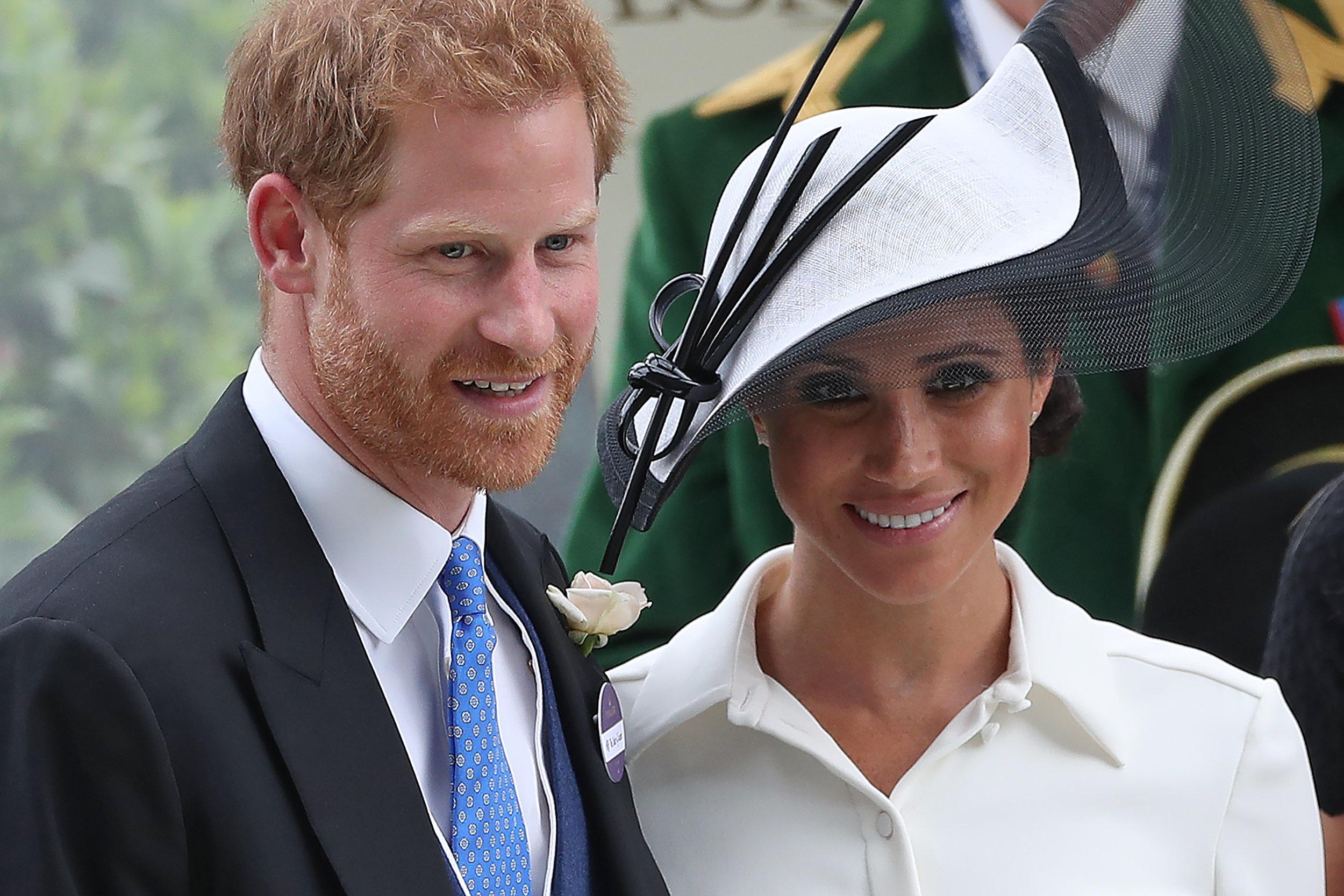 Prinz Harry und seine Frau Meghan beim Pferderennen in Ascot.