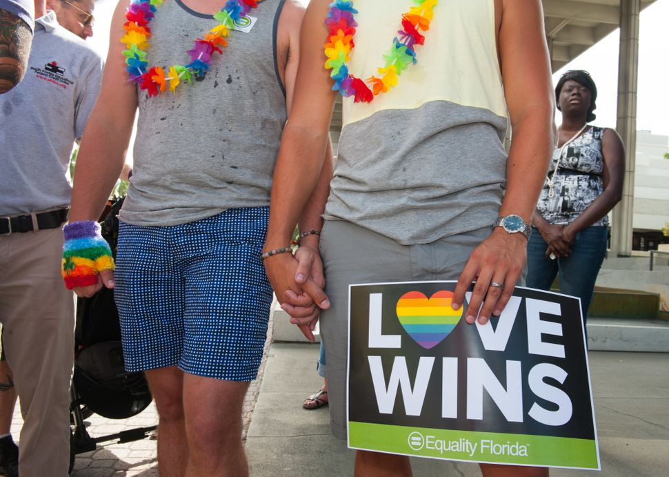 Community leaders and others citizens gathered to celebrate marriage equality in Fort Lauderdale, Florida