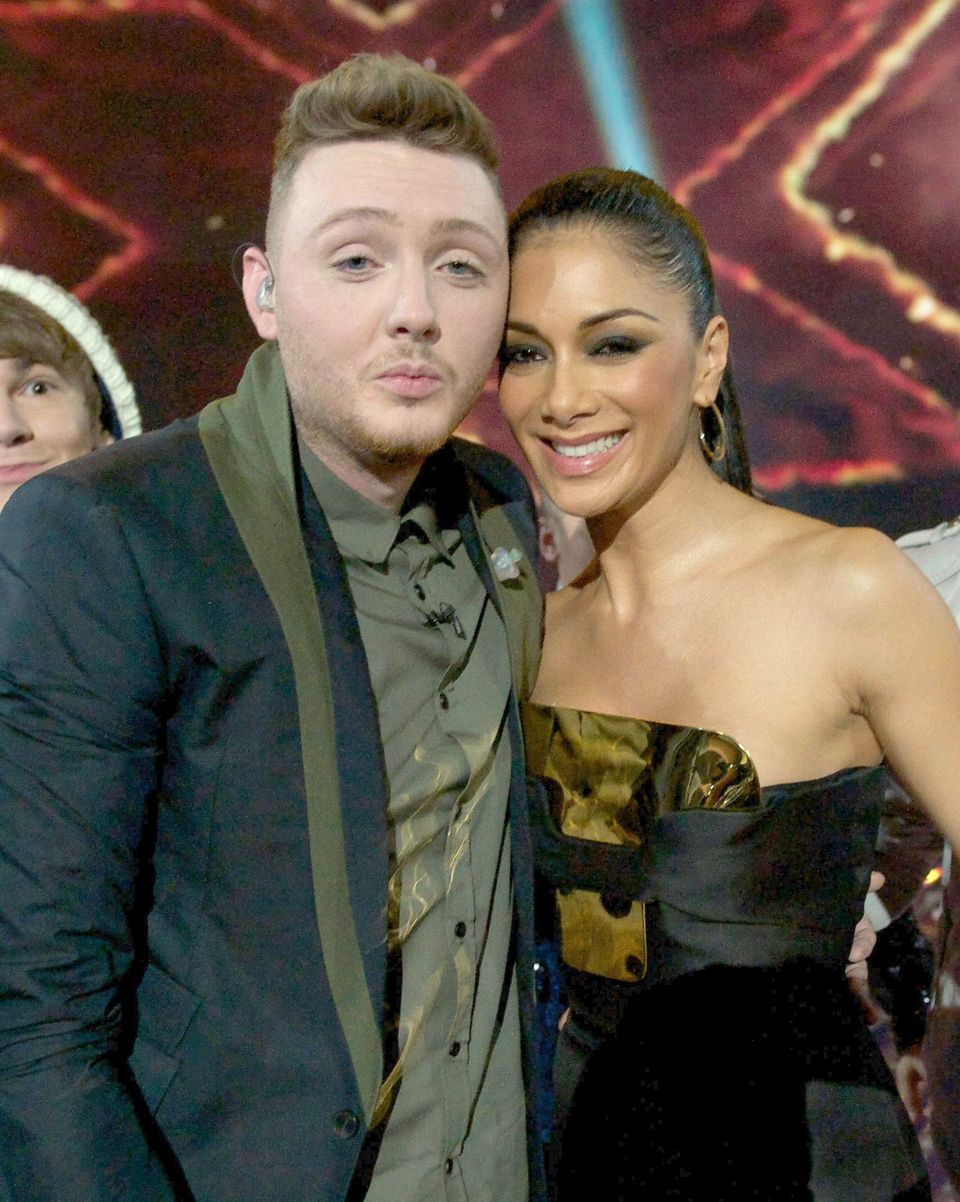 James with Nicole Scherzinger after he won 'The X Factor' in
