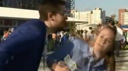 World Cup Reporter Dodges Man's Kiss On Live TV, Makes Him