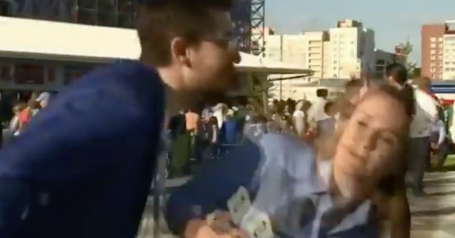 World Cup Reporter Dodges Man's Kiss On Live TV, Makes Him Apologize