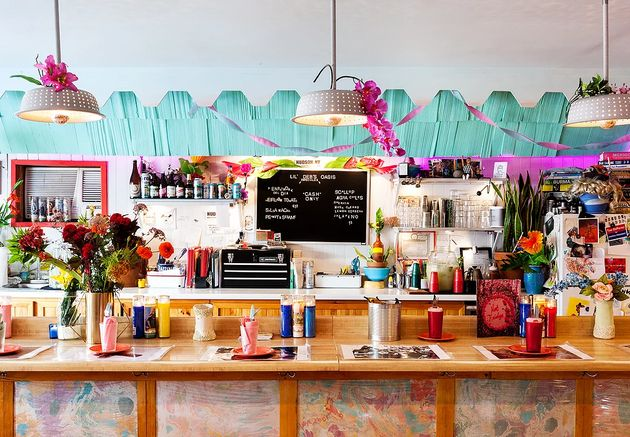 The colorful counter at Lil' Deb's