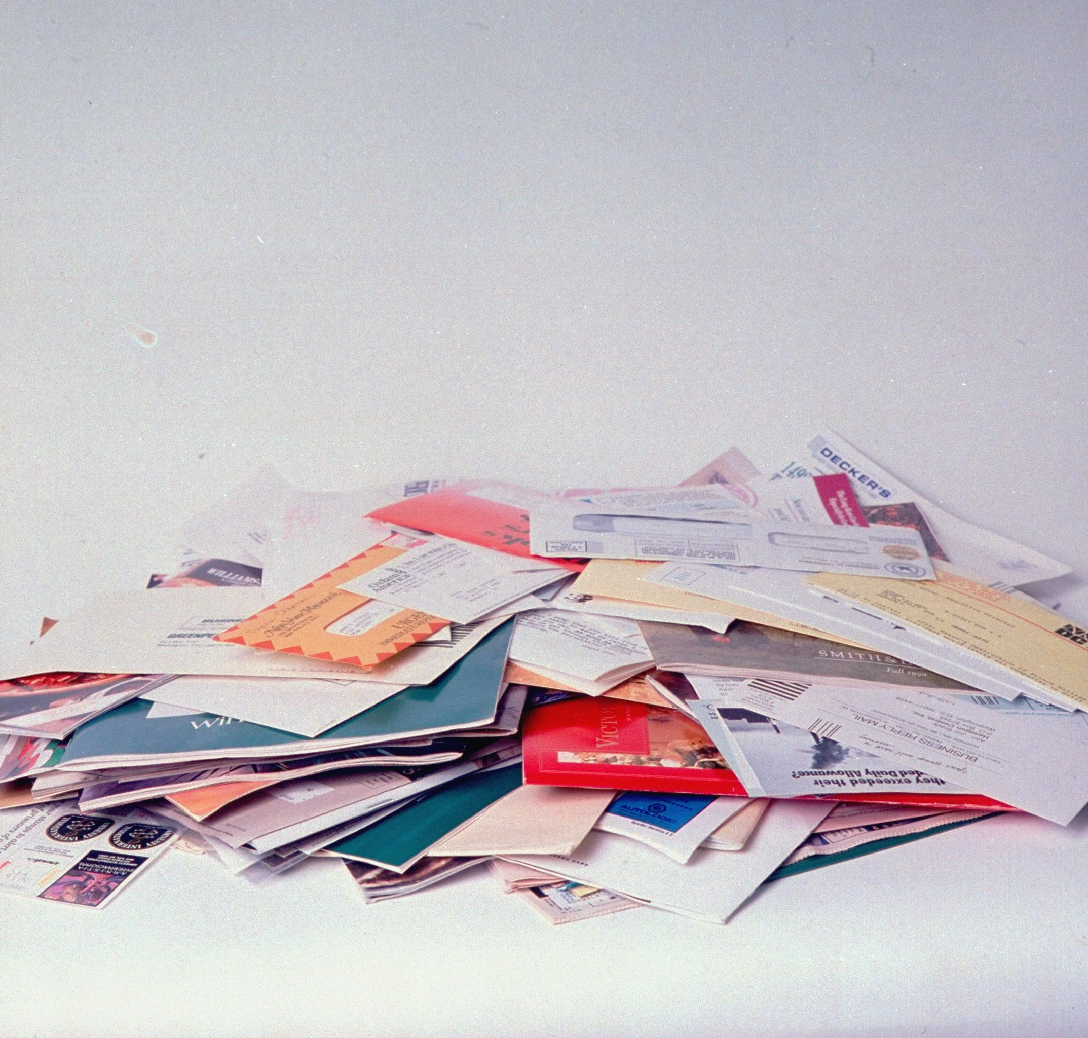 Large pile of misc. junk mail.  (Photo by James Keyser/The LIFE Images Collection/Getty Images)