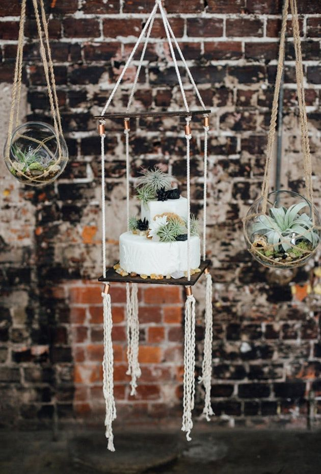 This Wedding Cake Trend Is For Daredevils