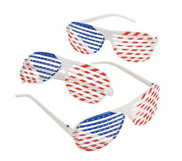 "Get them <a href=""http://www.orientaltrading.com/patriotic-shutter-glasses-12-pc-a2-35_821.fltr"" target=""_blank"">here</a>.&nb"