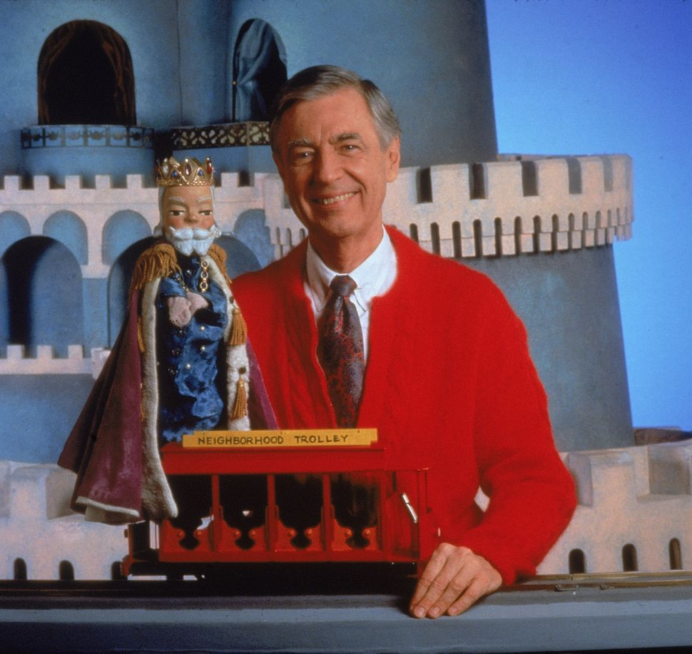 The beloved Mister Rogers with his puppet King Friday in the 1980s.