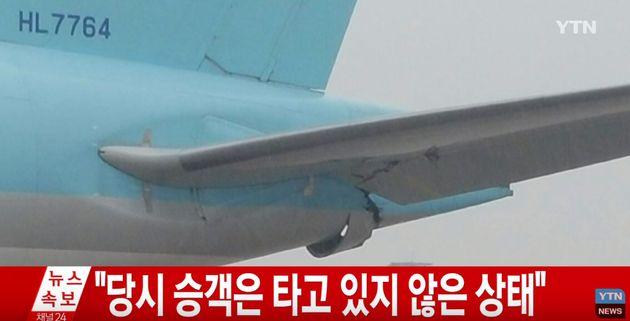 김포공항에서 아시아나-대한항공 항공기가 충돌하는 사고가