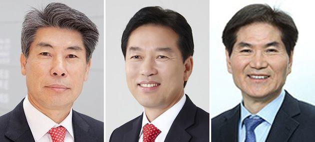 왼쪽부터 윤종원 신임 청와대 경제수석, 정태호 일자리수석, 이용선