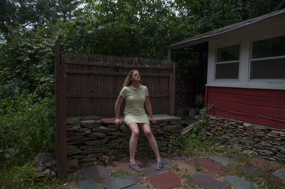 """Lorelei, in the backyard,"""