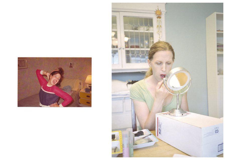 """""""Jennifer (age 10), imitating Cyndi Lauper; Lorelei, making cosmetic choices,"""""""