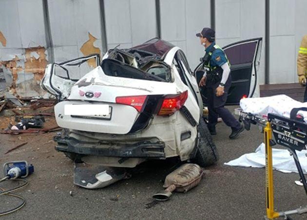 안성에서 빗길 교통사고로 사망한 4명은 모두