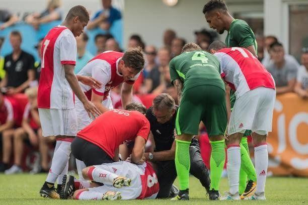 Le joueur Abdelhak Nouri fait un malaise pendantun match amicalentre l'Ajax Amsterdametle...