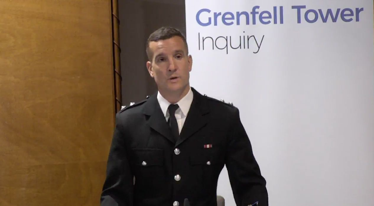Michael Dowden broke down during the Grenfell tower hearing after footage of the inferno was played to...